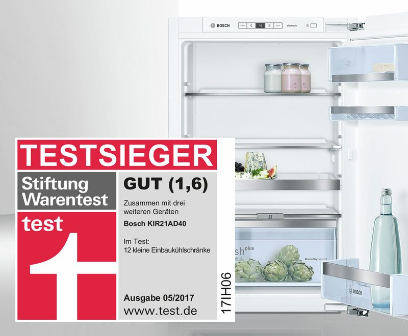 Testsieger: Der Kleine Einbaukühlschrank Von Bosch.